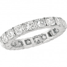 Gemlok Platinum Les Classiques Diamond Eternity Wedding Band - 6.300