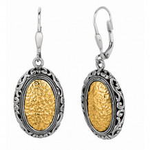 Philip Gavriel Two Tone Oxidized Byzantine Drop Earrings - sile413