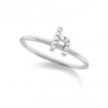 KC Designs 14k White Gold Initialss Initials Ring - R3190-H
