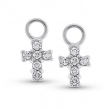KC Designs 14k White Gold Diamond Jacket Earrings - CH1660