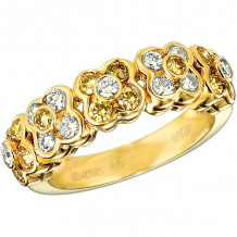 Gemlok 18k Yellow Gold Les Bijoux Diamond Ring - 35.667YD