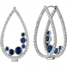 Gemlok Minilok 18k White Gold Diamond & Gemstone Drop Earrings - 70.704PS-Dot