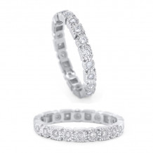 KC Designs 14k White Gold Stack And Style Diamond Stackable Ring - R8809