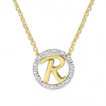 KC Designs 14k Two Tone Gold Initialss Initials Necklace - N1820-R