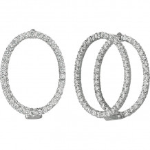 Gemlok Minilok 18k White Gold Diamond Drop Earrings - 70.730OV