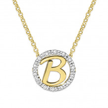 KC Designs 14k Two Tone Gold Initialss Initials Necklace - N1820-B