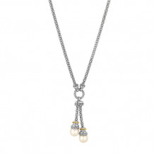 Philip Gavriel Two Tone Pearl Lariat Popcorn Necklace - silf3053-17