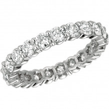 Gemlok Platinum Minilok Diamond Eternity Ring - 2.001