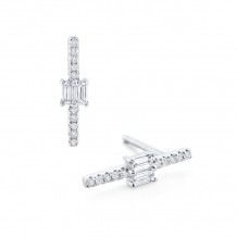 KC Designs 14k White Gold Mosaic Diamond Stud Earrings - E3361