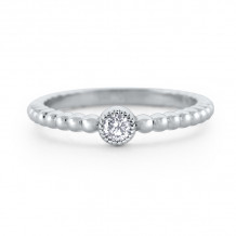 KC Designs 14k White Gold Stack And Style Diamond Stackable Ring - R6200