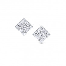 KC Designs 14k White Gold Mosaic Diamond Stud Earrings - E2017