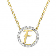 KC Designs 14k Two Tone Gold Initialss Initials Necklace - N1820-F