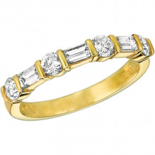 Gemlok 18k Yellow Gold Baguette and Round  Anniversary - 5.931