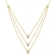 KC Designs 14k Yellow Gold Mosaic Diamond Necklace - N7852