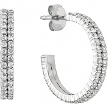 Gemlok Minilok 18k White Gold Diamond Hoop Earrings - 70.900