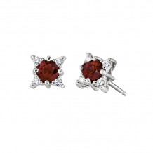 David Connolly 14k White Gold Studs Earrings - 6650RUW