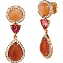 Gemlok Les Bijoux 18k Rose Gold Gemstone Drop Earrings - 70.711MS