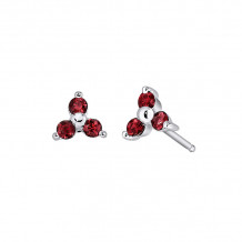 David Connolly 14k White Gold Ruby Earrings - 6564RUW