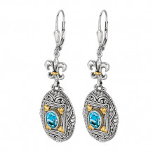 Philip Gavriel Two Tone Blue Topaz Drop Earrings - sile332