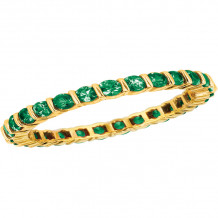 Gemlok 18k Yellow Gold Les Classiques Gemstone Eternity Ring - 6.500TS