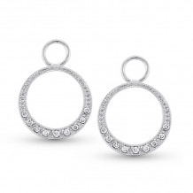 KC Designs 14k White Gold Diamond Jacket Earrings - CH2325