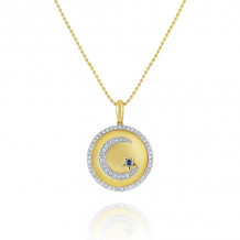KC Designs 14k Two Tone Gold Everyday Color Diamond & Gemstone Charm Necklace - N7153