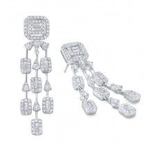 KC Designs 14k White Gold Diamond Chandelier Earrings - E8763