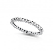 KC Designs 14k White Gold Eternity Diamond Ring - R11503