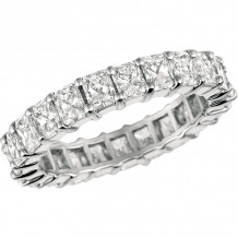 Gemlok Platinum Radiant Diamond Eternity Wedding Band - 1.254