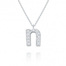 KC Designs 14k White Gold Initialss Initials Necklace - N8875-N