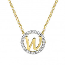 KC Designs 14k Two Tone Gold Initialss Initials Necklace - N1820-W