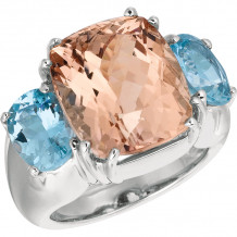 Gemlok 18k Rose Gold Bold Les Bijoux Gemstone Ring - 35.706MG-AQ