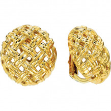 Gemlok La Vannerie 18k Yellow Gold Stud Earrings - 76.089