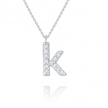KC Designs 14k White Gold Initialss Initials Necklace - N8875-K