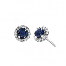David Connolly 14k White Gold Gemstone Earrings - 8114SAW