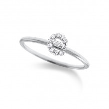 KC Designs 14k White Gold Initialss Initials Ring - R3190-E