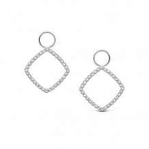 KC Designs 14k White Gold Diamond Jacket Earrings - CH12363