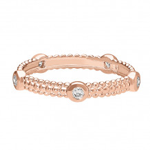 David Connolly 14k Rose Gold Stackable Ring - 1693PG