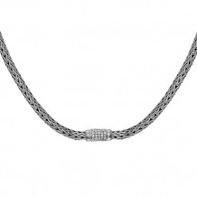 Philip Gavriel Sterling Silver Oval Weave Necklace - pgcx750-18