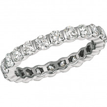 Gemlok Platinum Les Classiques Diamond Eternity Wedding Band - 6.065