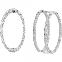 Gemlok Minilok 18k White Gold Diamond Drop Earrings - 70.704OV