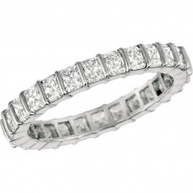 Gemlok Platinum Radiant Diamond Eternity Wedding Band - 1.800
