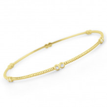 KC Designs 14k Yellow Gold Diamond Bangle Bracelet - B6178
