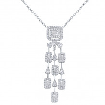 KC Designs 14k White Gold Mosaic Diamond Necklace - N8785