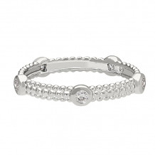David Connolly 14k White Gold Stackable Ring - 1693W