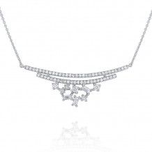 KC Designs 14k White Gold Mosaic Diamond Necklace - N7398