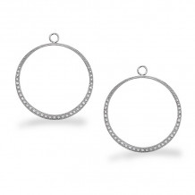 KC Designs 14k White Gold Diamond Jacket Earrings - CH2322