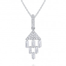 KC Designs 14k White Gold Mosaic Diamond Pendant - N7436