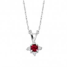David Connolly 14k White Gold Ruby Necklace - 5601RUW