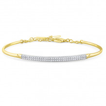 KC Designs Two Tone 14k Gold Diamond Bangle Bracelet - B7883